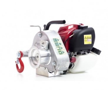 GAS-POWERED PULLING WINCH. MAX. PULLING FORCE: 700 KG