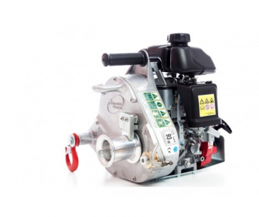 GAS-POWERED PULLING WINCH. MAX. PULLING FORCE: 1000 KG