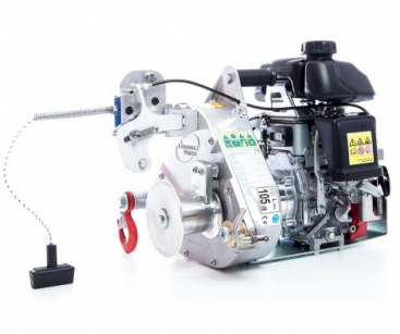 GAS-POWERED PULLING/LIFTING WINCH. PULL. FORCE: 775 KG. LIFT. CAP.: 250 KG